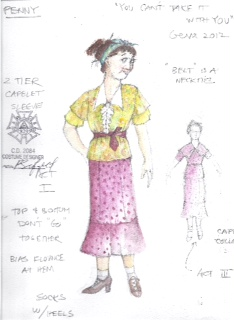 Costume Sketches from YOU CAN'T TAKE IT WITH YOU – Geva Journal