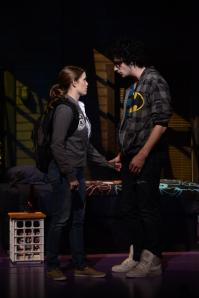 Natalie (Lyndsay Ricketson) and Henry (Jordan Craig) in Next to Normal