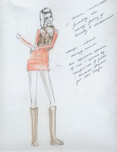 A student's costume design for Almost, Maine