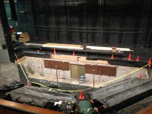 stage under construction