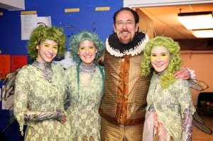 Skip Greer is joined by three of the fairies from Midsummer: Hannah Karpenko, Ashley Squairs and Rebecca Rand