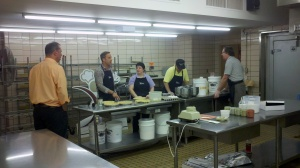 News10's Pat Taney with bakers from the Special Touch Bakery.