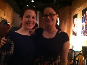 Jen and Katelyn at the Geva holiday party